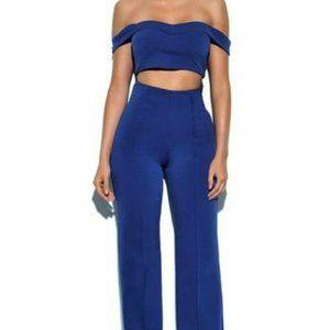 Miss Circle NYC 2 Piece Crepe High Waist Pants Set